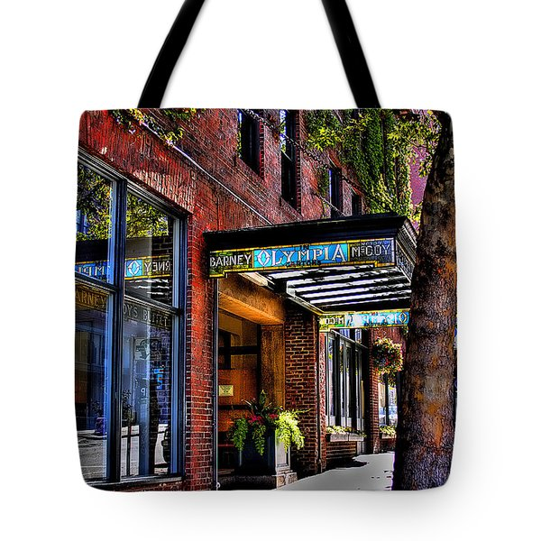 The Barney Mccoy Cafe Tote Bag by David Patterson
