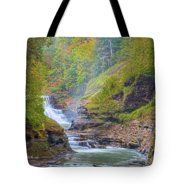 The Bashful Lower Falls Tote Bag by Angelo Marcialis