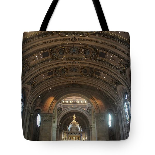 The Basilica Of Saint Mary Interior Tote Bag