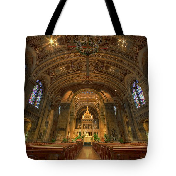 The Basilica Of Saint Mary Minneapolis Interior Tote Bag