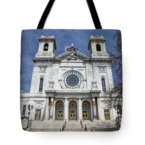 The Basilica Of Saint Mary Minneapolis Springtime 2 Tote Bag