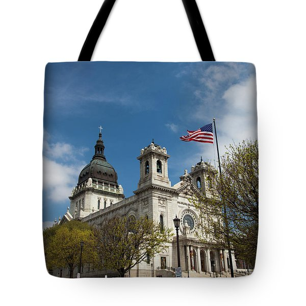 The Basilica Of Saint Mary Minneapolis Springtime 3  Tote Bag