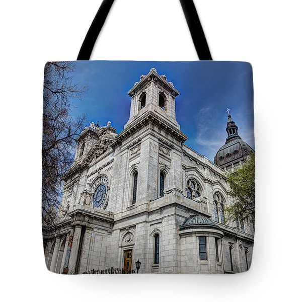 The Basilica Of Saint Mary Minneapolis Springtime Tote Bag