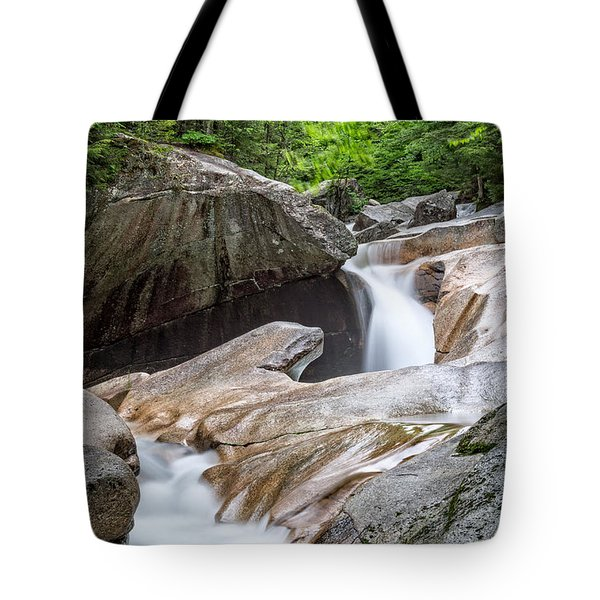 Tote Bag featuring the photograph The Basin Down River by Michael Hubley