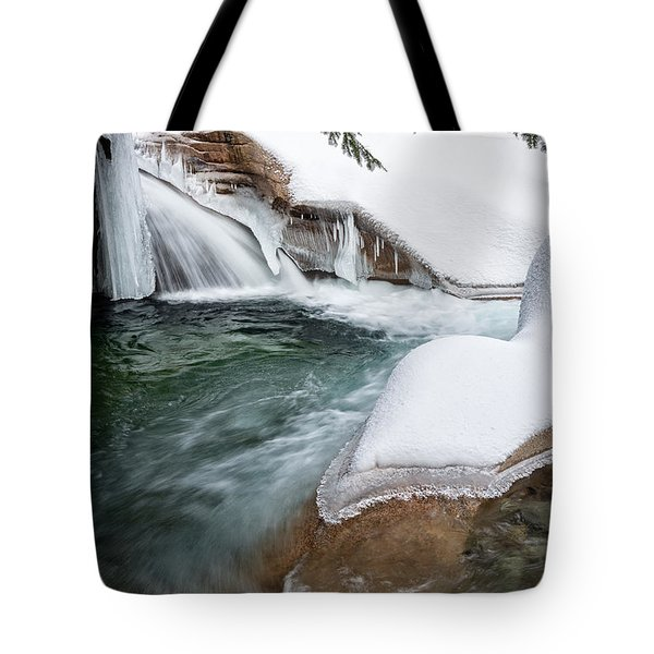 Tote Bag featuring the photograph The Basin Side View Nh by Michael Hubley