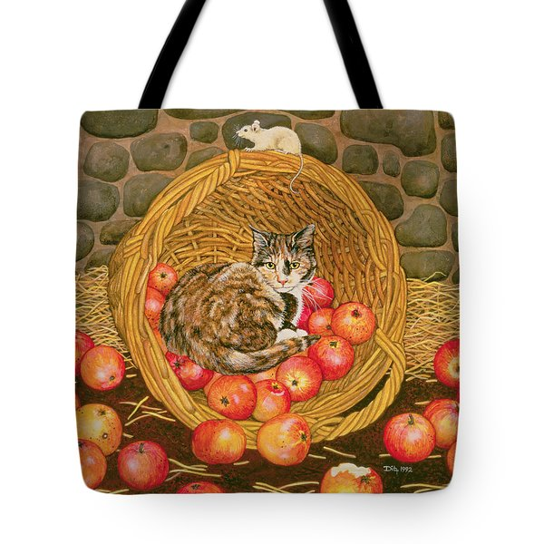 The Basket Mouse Tote Bag by Ditz