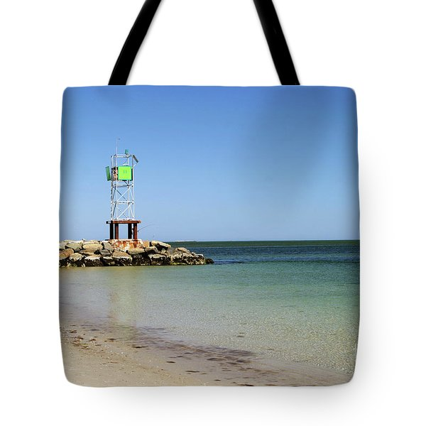 The Bass River Jetty South Yarmouth Cape Cod Massachusetts Tote Bag by Michelle Wiarda