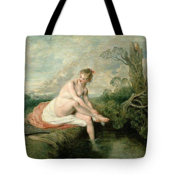 The Bath Of Diana Tote Bag by Jean Antoine Watteau