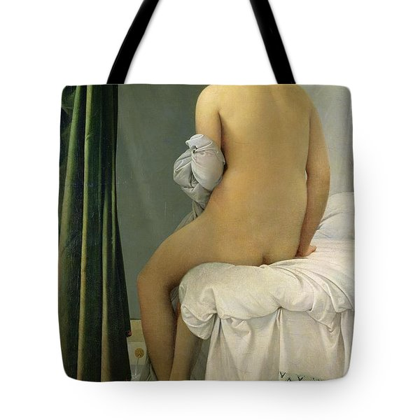 The Bather Tote Bag by Jean Auguste Dominique Ingres