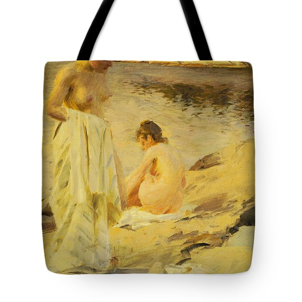 The Bathers Tote Bag by Anders Leonard Zorn