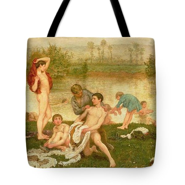 The Bathers Tote Bag by Frederick Walker
