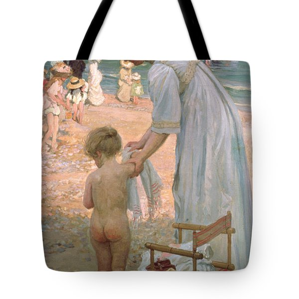 The Bathing Hour  Tote Bag by Emmanuel Phillips Fox