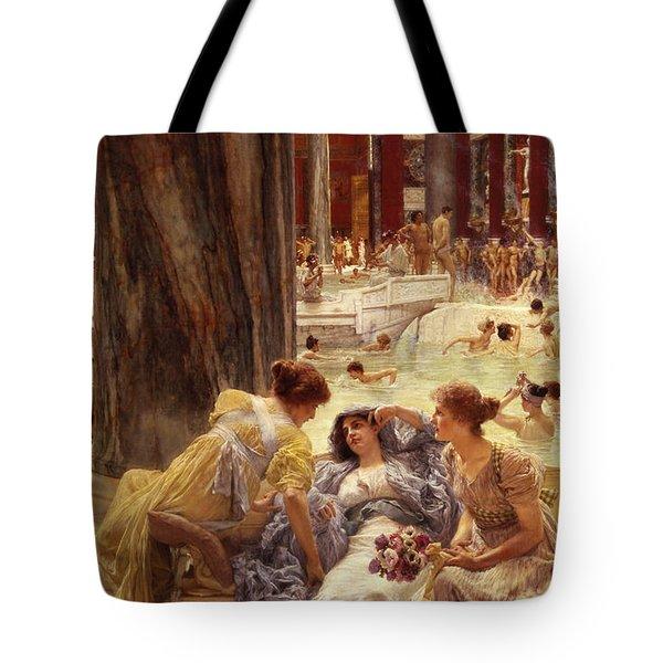 The Baths Of Caracalla Tote Bag by Sir Lawrence Alma-Tadema