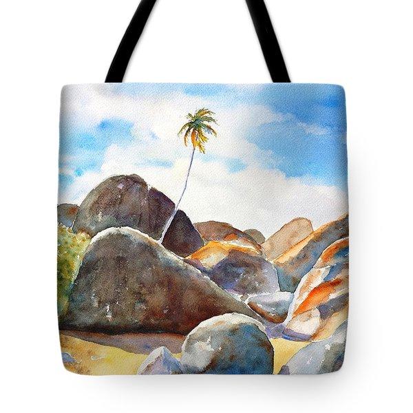 The Baths Palm Tree Tote Bag