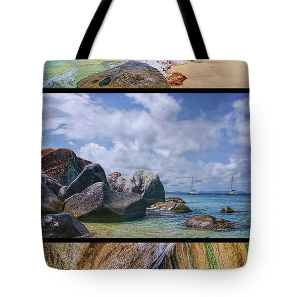 The Baths Virgin Gorda National Park Triptych Tote Bag
