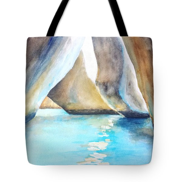 The Baths Water Cave Path Tote Bag