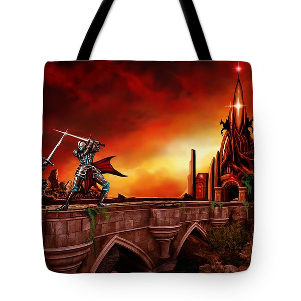 The Battle For The Crystal Castle Tote Bag by James Christopher Hill