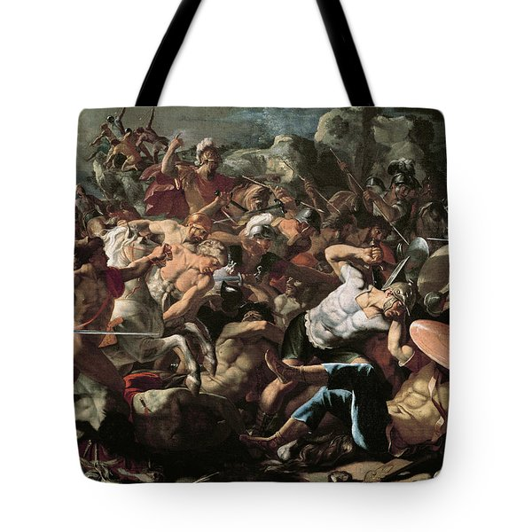 The Battle Tote Bag by Nicolas Poussin