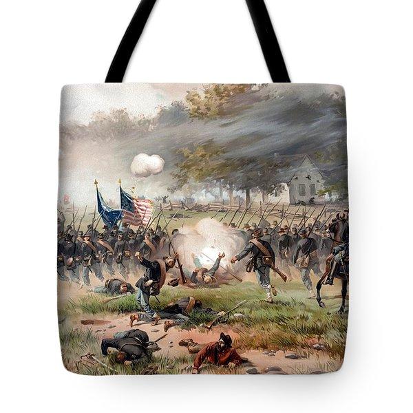The Battle Of Antietam Tote Bag