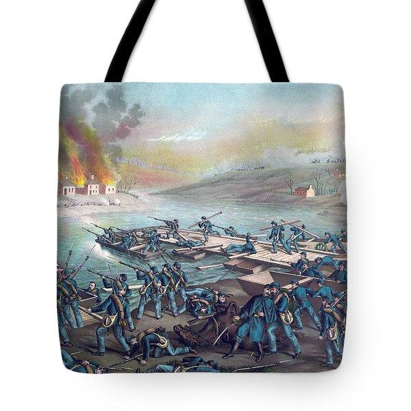 The Battle Of Fredericksburg Tote Bag