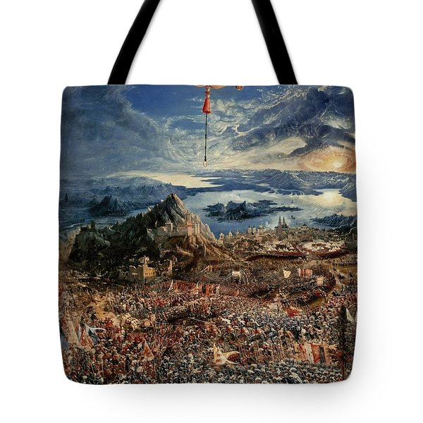The Battle Of Issus Tote Bag by Albrecht Altdorfer