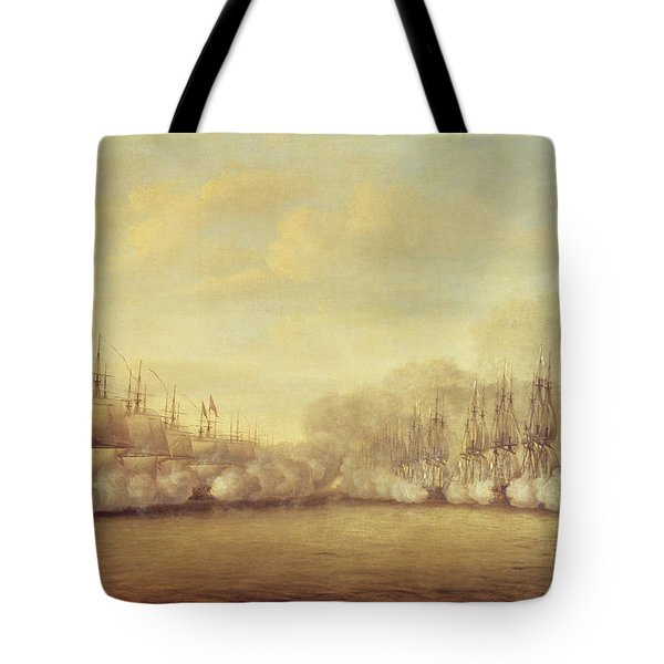 The Battle Of Negapatam Tote Bag by Dominic Serres