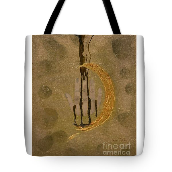 The Battle Of Religons And Wars 4 Liquid Gold Tote Bag by Talisa Hartley