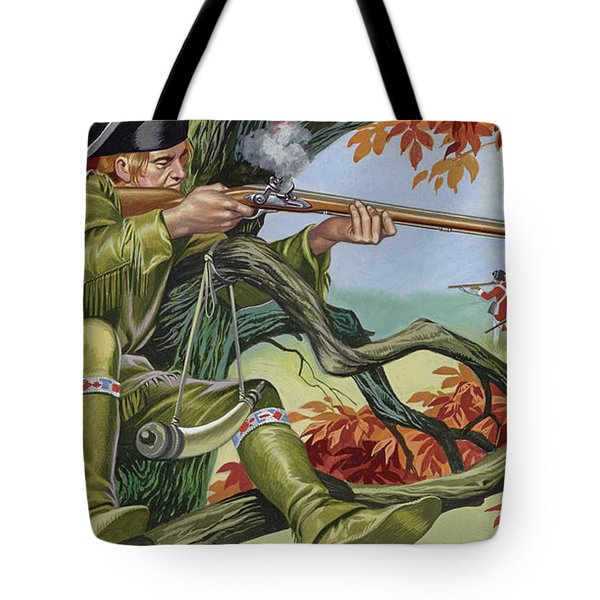 Battle Of Saratoga, With Brigadier Arnold's Sharp-shooters, Picking Off The Britisr Tote Bag