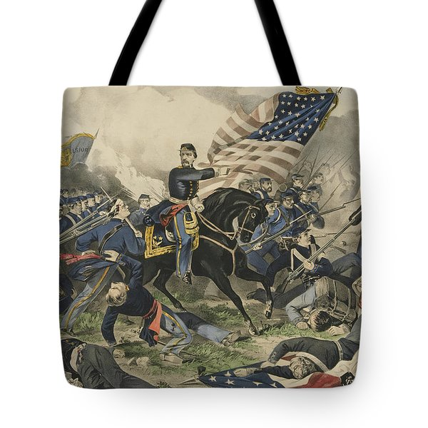 The Battle Of Williamsburg, Virginia On May 5th 1862 Tote Bag