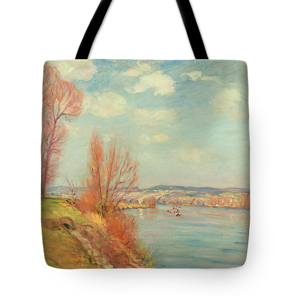 The Bay And The River Tote Bag by Jean Baptiste Armand Guillaumin