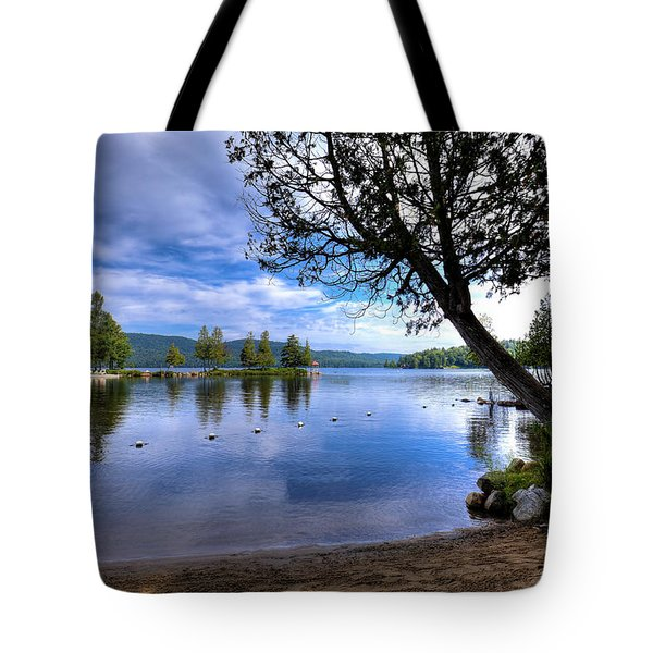 Tote Bag featuring the photograph The Beach At Covewood Lodge by David Patterson