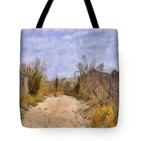 The Beach Awaits Tote Bag
