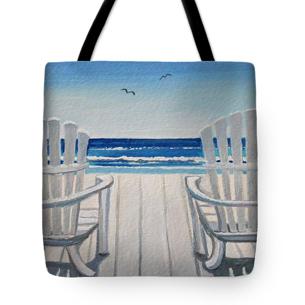 The Beach Chairs Tote Bag