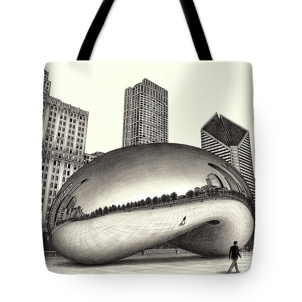The Beach Chicago Drawing Tote Bag