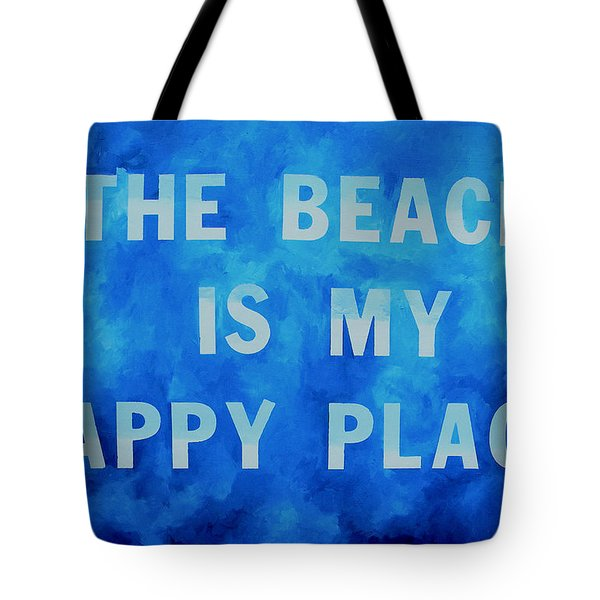 The Beach Is My Happy Place 2 Tote Bag