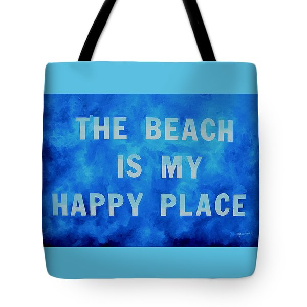 The Beach Is My Happy Place 2 Tote Bag by Patti Schermerhorn
