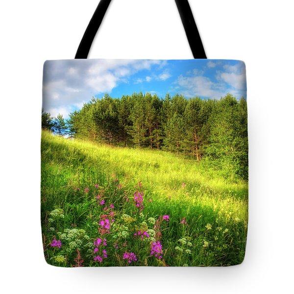 The Beach Meadow Tote Bag