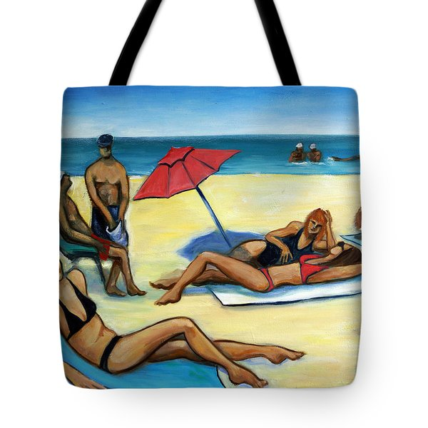 The Beach Tote Bag by Valerie Vescovi