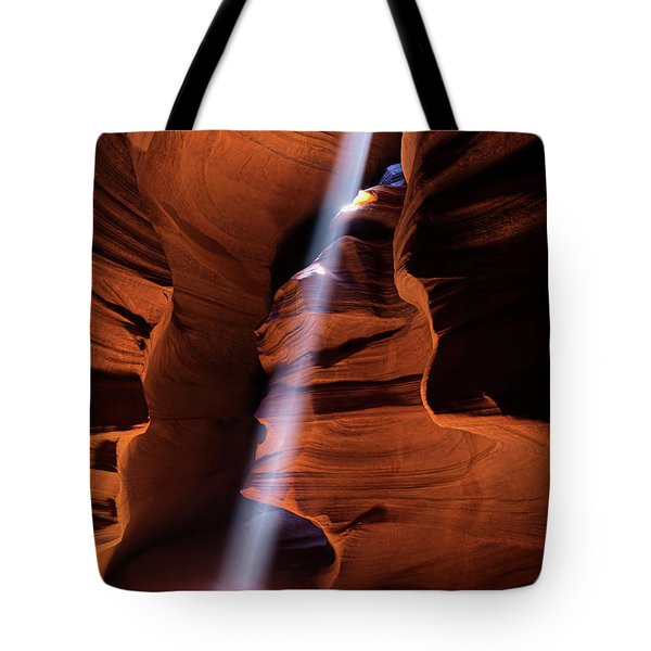 The Beam Of Light Tote Bag