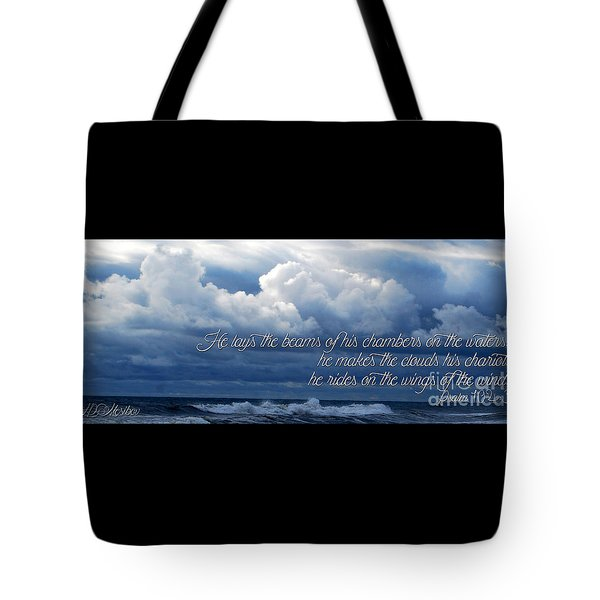 Tote Bag featuring the photograph The Beams Of His Chambers by Linda Mesibov