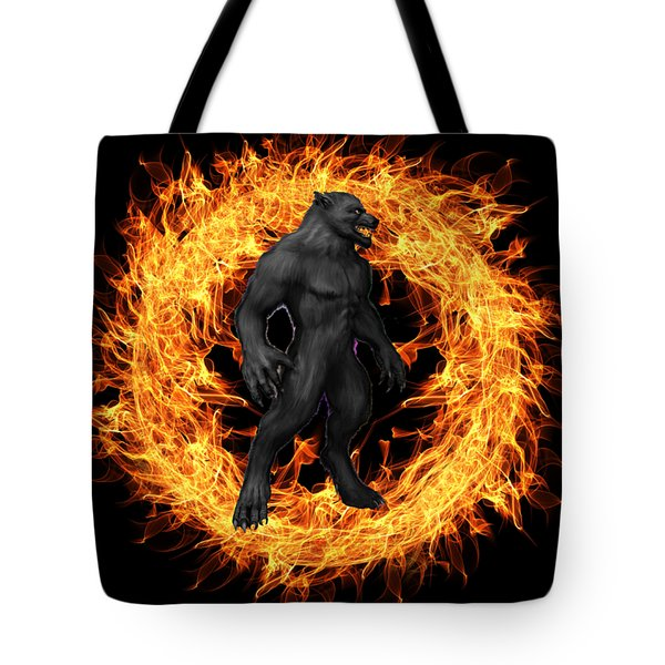 The Beast Emerges From The Ring Of Fire Tote Bag