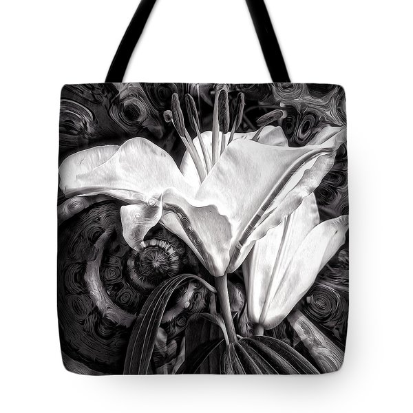 Tote Bag featuring the mixed media The Beast by Gabriella Weninger - David