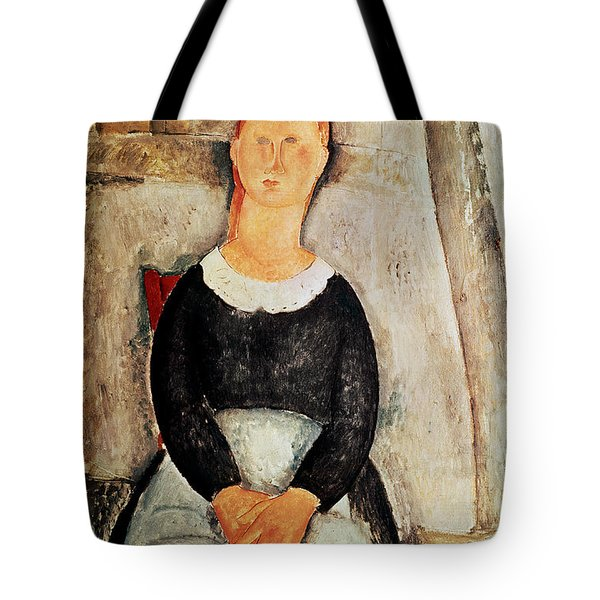 The Beautiful Grocer Tote Bag by Amedeo Modigliani