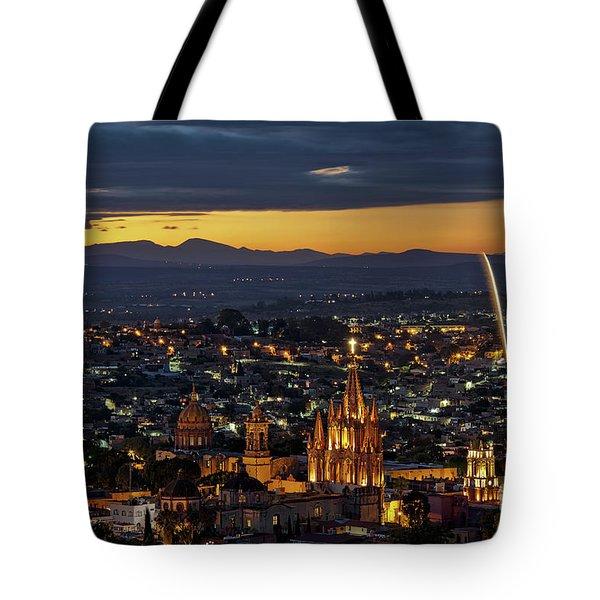 The Beautiful Spanish Colonial City Of San Miguel De Allende, Mexico Tote Bag by Sam Antonio Photography