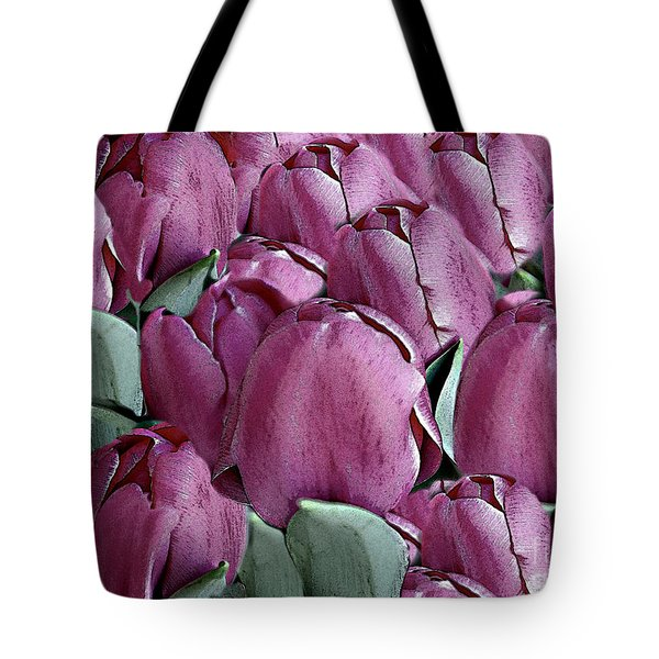 The Beauty And Depth Of A Bed Of Tulips Tote Bag