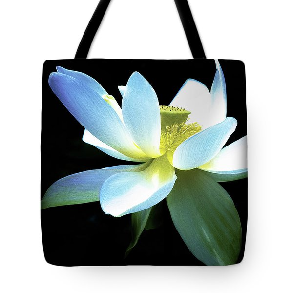 Tote Bag featuring the photograph The Beauty Of A Lotus by Julie Palencia