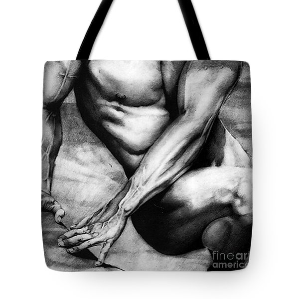 The Beauty Of A Nude Man Tote Bag by RjFxx at beautifullart com
