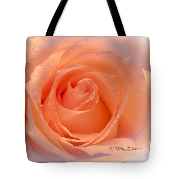 The  Beauty Of A Rose  Copyright Mary Lee Parker 17,  Tote Bag by MaryLee Parker