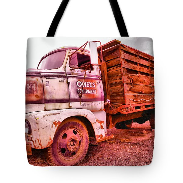 Tote Bag featuring the photograph The Beauty Of An Old Truck by Jeff Swan