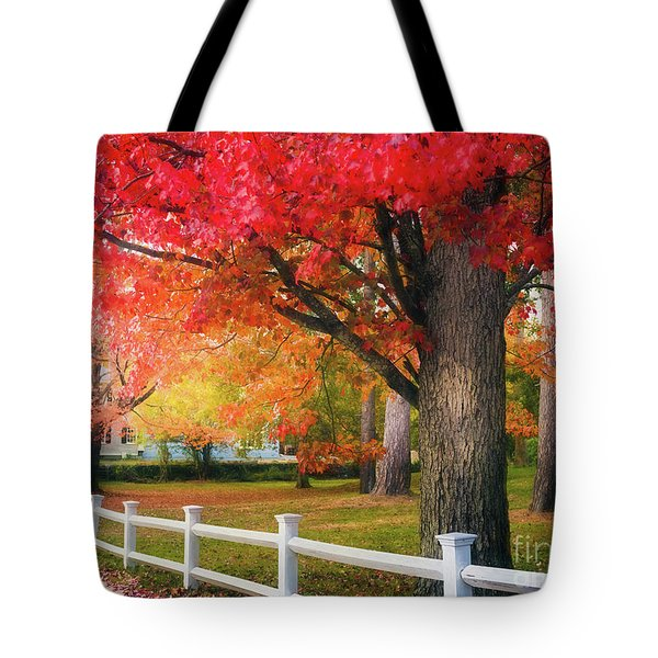 The Beauty Of Autumn In New England Tote Bag